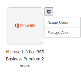 Office 365 admin tile