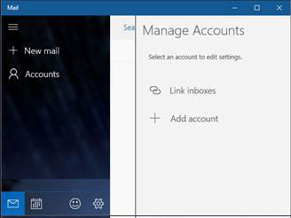 manage accounts screen shot