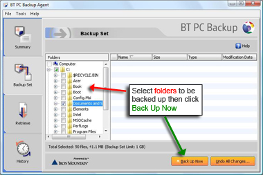 BT PC Backup